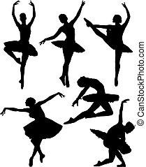 bailarina, silueta