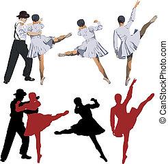 bailarina, y, bailarín de ballet clásico