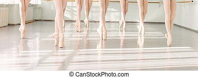 bailarinas, ballet, clásico, bailarines, baile, piernas, clase