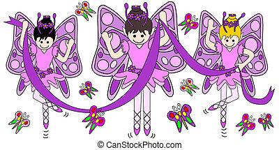 bailarinas, borboletas