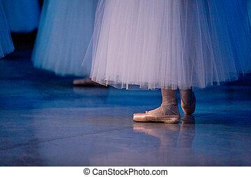bailarines ballet, pantuflas