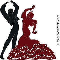 bailarines, flamenco