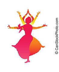 bailarines, indio