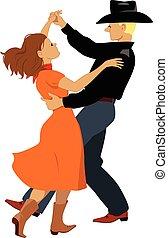 bailarines, polca