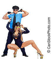bailarines, policías
