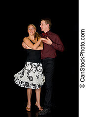 bailarines, salón de baile