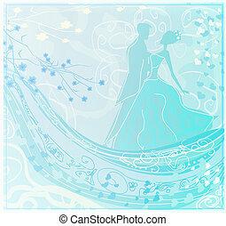 bailarines, salón de baile, invitación, -