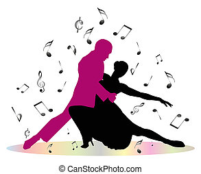 bailarines, tango