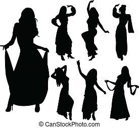 bailarines, vientre