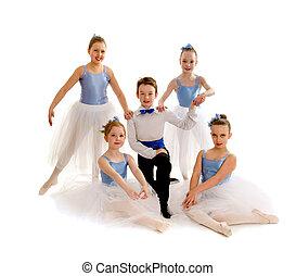 baile, ballet, grupo, menor