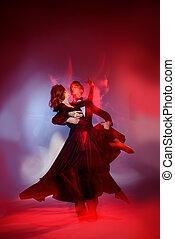 baile, concepto, arte