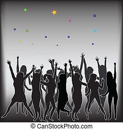 baile, de, juventud