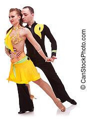 baile, elaboración, movimiento, bailarines, latino