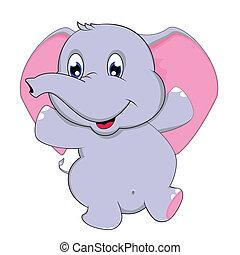 baile, elefante