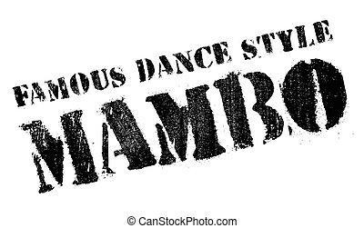 baile, famoso, estilo, estampilla, mambo