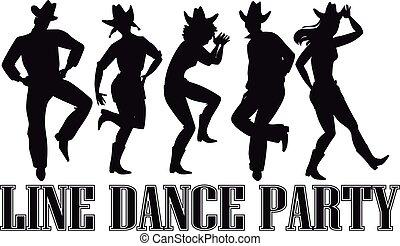 baile, línea, clip-art