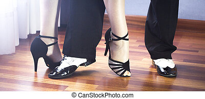 baile, latín, bailarines, salón de baile