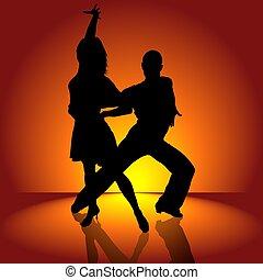 baile, latino, abrasador