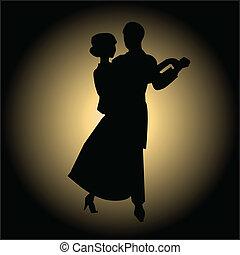 baile, lento, salón de baile