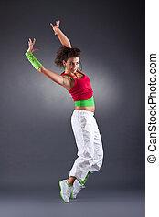 baile, moderno, estudio
