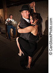 baile, mujer, tango, hombre