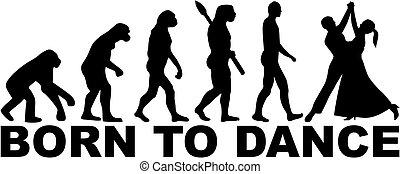 baile, nacido, evolución, vals, -