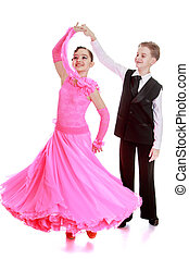 baile, pareja