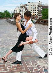 baile, pareja, latino, bailando