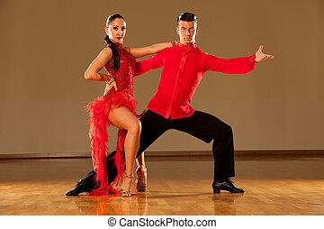 baile samba, baile, pareja, -, acción, salvaje, latino