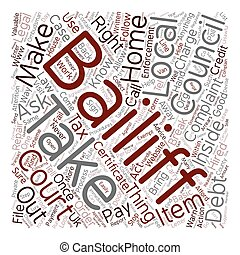 bailiffs, concepto, consejo, derechos, texto, impuesto, ...