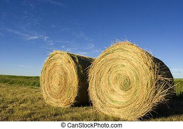 Bails - Two  bails on farmland