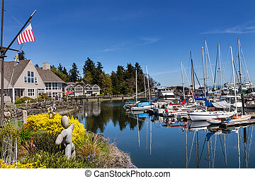 bainbridge 島, 港, puget 音, ワシントン州