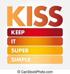 baiser, -, simple, acronyme, il, super, garder