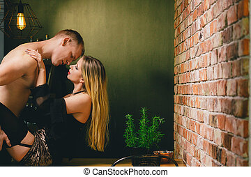 baisers, girl, elle, boyfirend