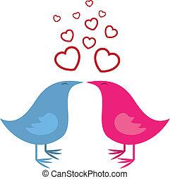 baisers, oiseaux