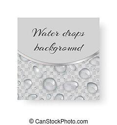 baisses eau, fond