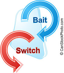 Bait and switch business diagram illustration - business...