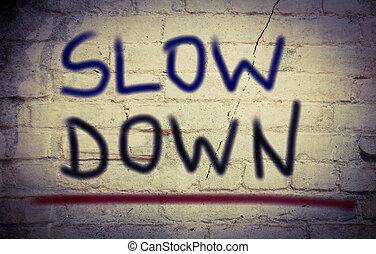 baixo, lento, conceito