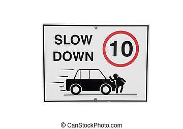 baixo, lento, sinal