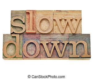 baixo, -lifestyle, conceito, lento