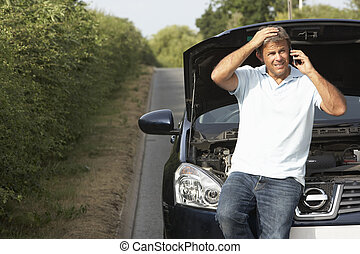 baixo, país, motorista, estrada, quebrada