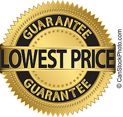 baixo, preço, garantia, dourado, etiqueta