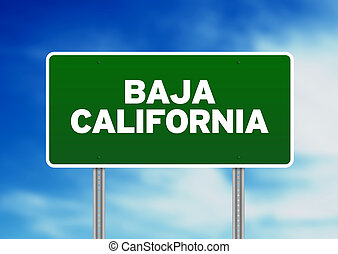 Baja California Highway Sign