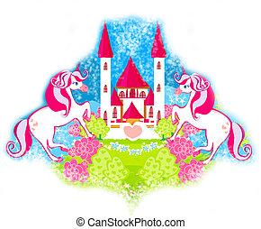 bajeczka, karta, sprytny, księżna, jednorożce, zamek