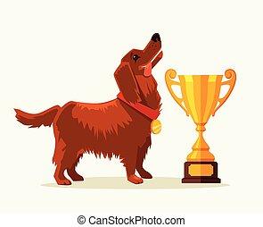 bajnok, kutya, gold csésze