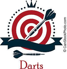 bajnokság, embléma, darts