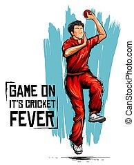 bajnokság, sport, krikett, tekéző, tekézés