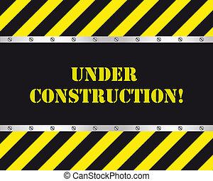 bajo construcción, diseño