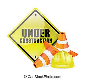 bajo construcción, señal