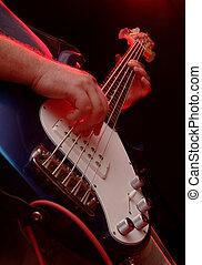 bajo, -, guitarra, banda, música, perfromance, eléctrico